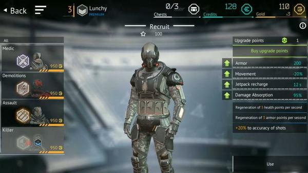 Infinity Ops Character