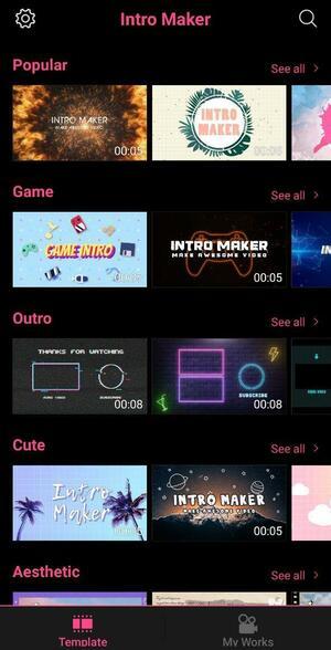 Intro Maker Screen 2