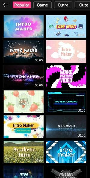 Intro Maker Screen 3
