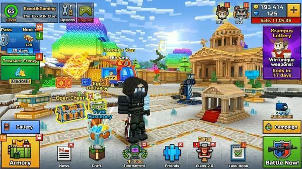 Pixel Gun 3D Menu