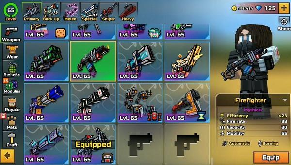 Pixel Gun 3D Weapons