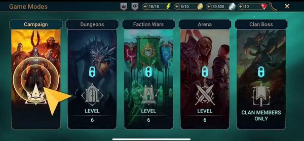 Raid Shadow Legends Modes