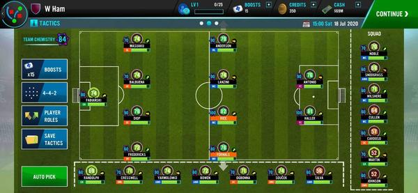 Soccer Manager 2021 Screen 1