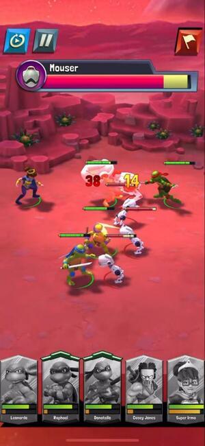 TMNT Mutant Madness Screen