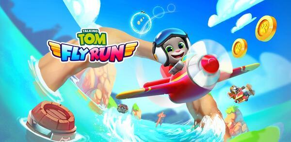 Talking Tom Fly Run Logo