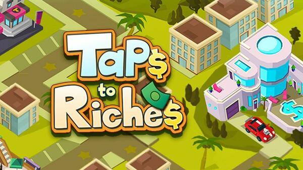 Taps to Riches Logo