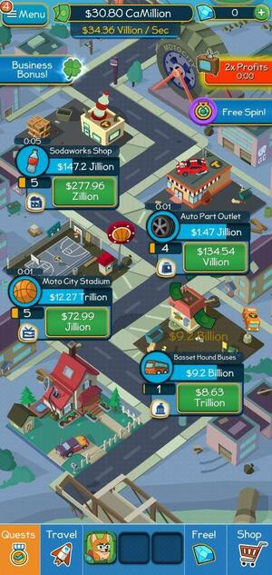 Taps to Riches Screen