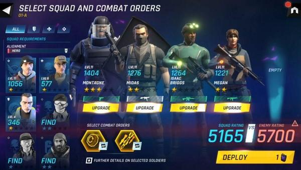 Tom Clancy's Elite Squad Menu