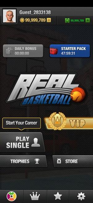 real basketball menu