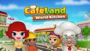 Cafeland — World Kitchen Logo