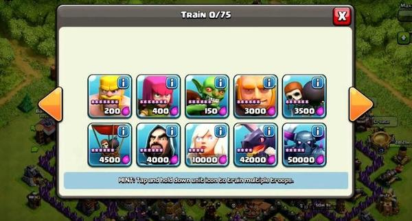 Clash of Clans Army Units