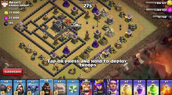 Clash of Clans Attack on Neigbor