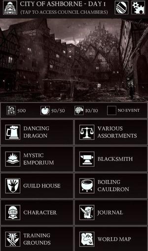Grim Quest Screen 1