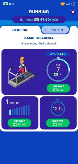 Idle Fitness Gym Screen 2