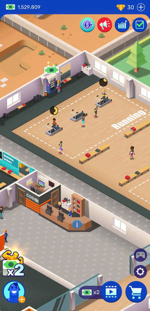 Idle Fitness Gym Screen 3