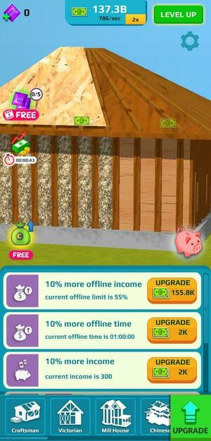 Idle Home Makeover Screen 1