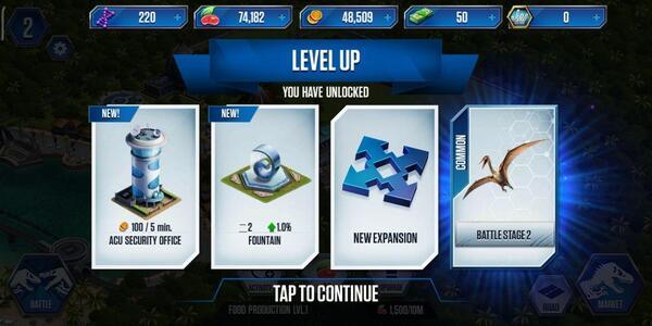 Jurassic World The Game upgrade