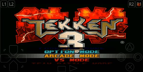 Tekken 3 Menu