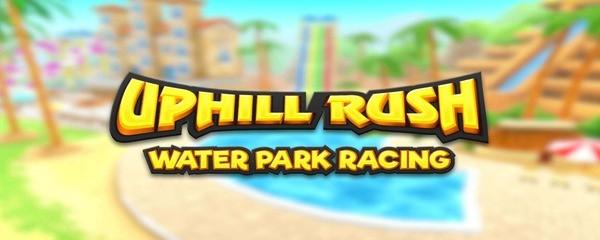 Uphill Rush Water Park Racing Logo