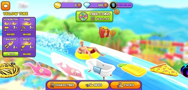 Uphill Rush Water Park Racing Screenshot 1