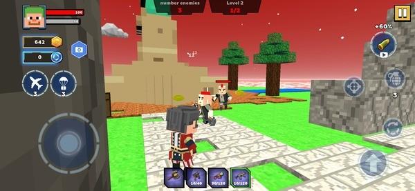 Fire Craft 3D Pixel World Screenshot 1