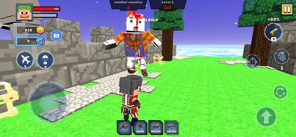 Fire Craft 3D Pixel World Screenshot 2