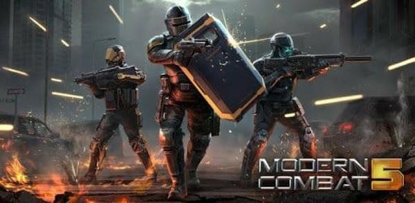 Modern Combat 5 Logo