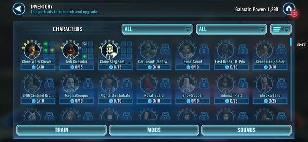 Star Wars Galaxy of Heroes Screenshot 2