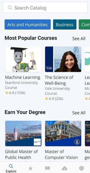 Coursera Online Courses Screenshot 1