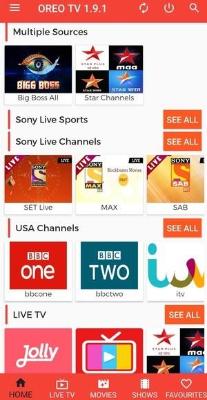 Oreo TV Screenshot 1