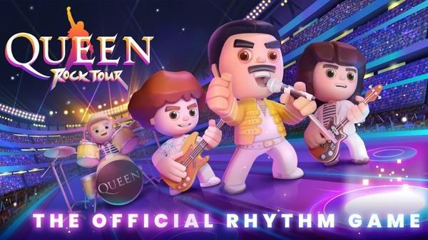 Queen Rock Tour - The Official Rhythm Logo