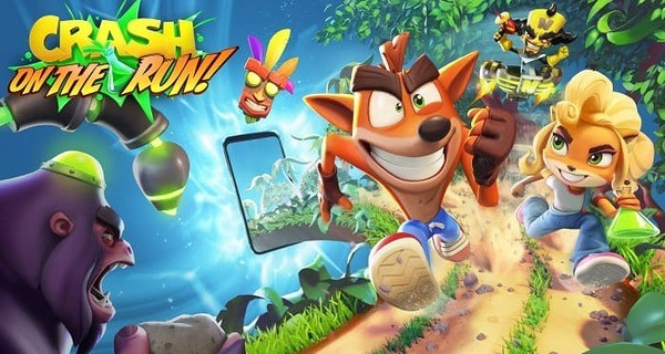 Crash Bandicoot On the Run Logo