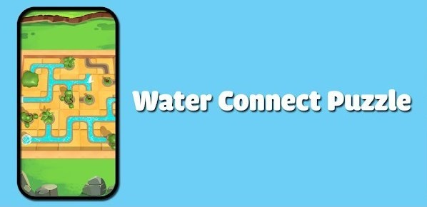 Water Connect Puzzle Logo