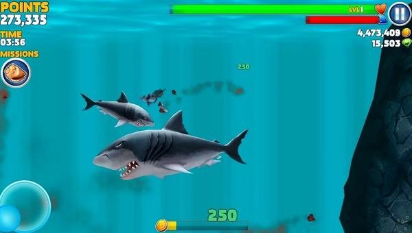 Hungry Shark Evolution Screen 1