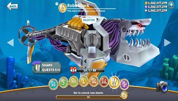 Hungry Shark Evolution Screen 2