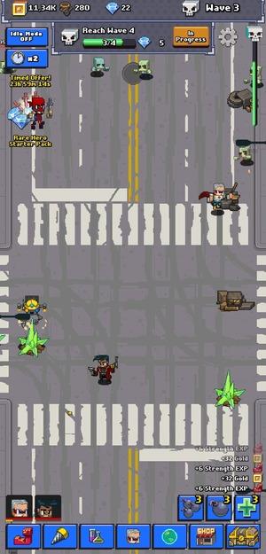 Idle Zombie Superhero Screenshot 1