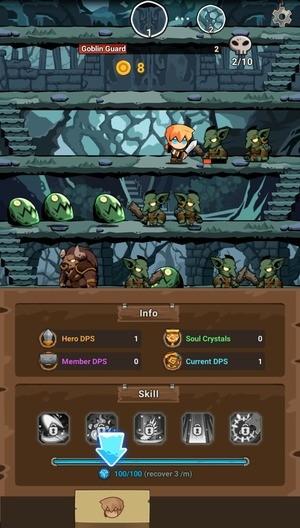 Tap Dungeon Hero Screenshot 1