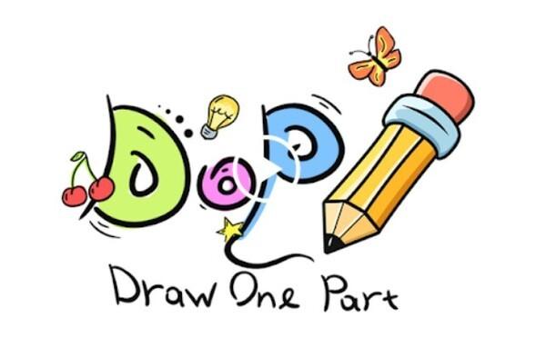 DOP Draw One Part Logo