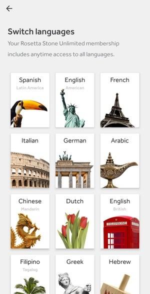 Rosetta Stone Screenshot 1
