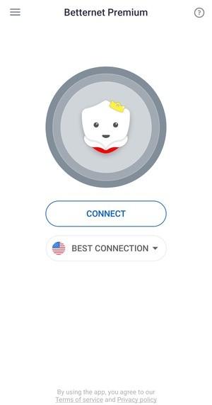 Betternet Hotspot VPN Screen 1