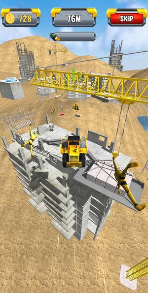 Construction Ramp Jumping Screenshot 2