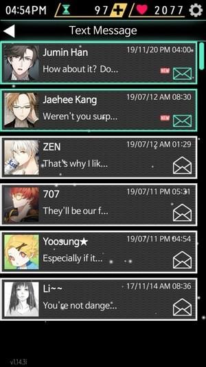 Mystic Messenger Screenshot 2